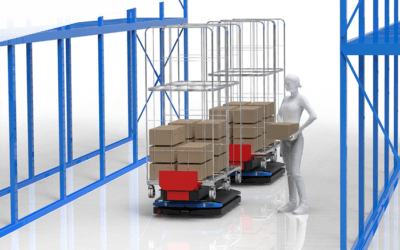 La préparation de commande robotisée par AMR, le secret de la bonne collaboration opérateur / robot