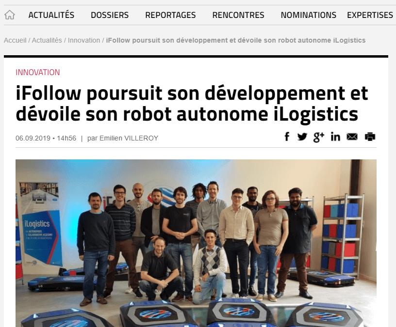 iFollow poursuit son développement et dévoile son robot autonome iLogistics